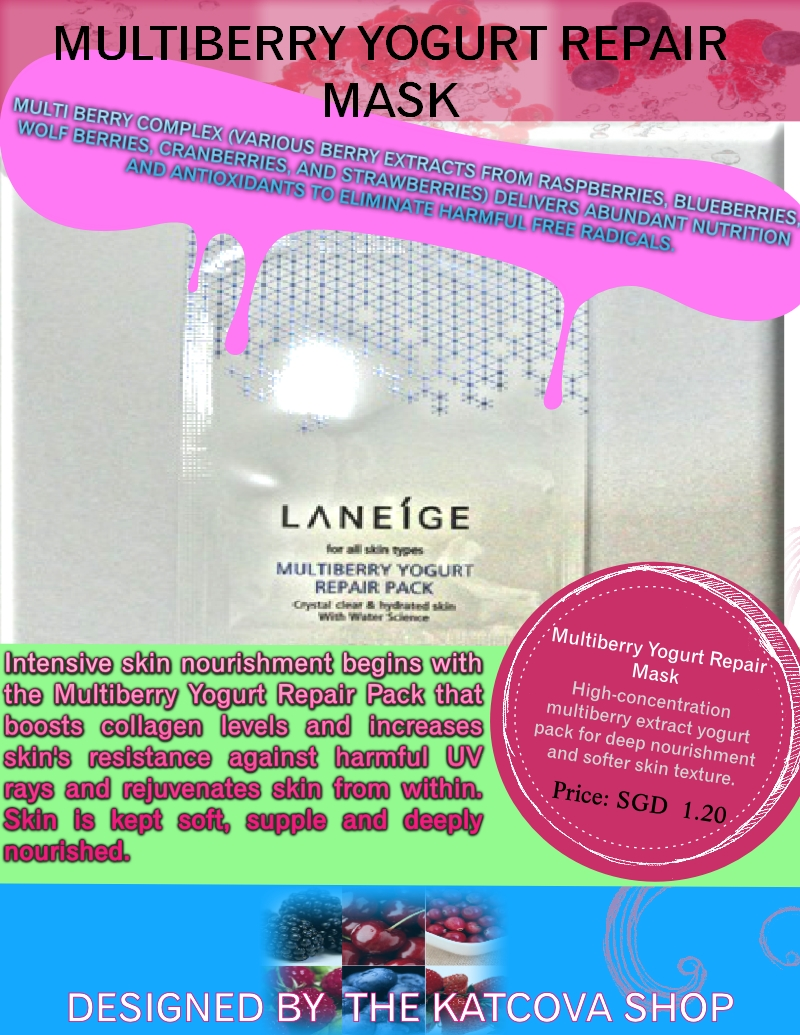 Laneige Multiberry Yogurt repair masklight